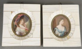5 Late 19th/early 20th Century Portrait Miniatures