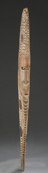 Long Face Wood Carving From Papua New Guinea.