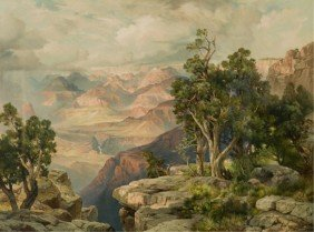 "James Moran (Am. 1837-1926).""Grand Canyon."""