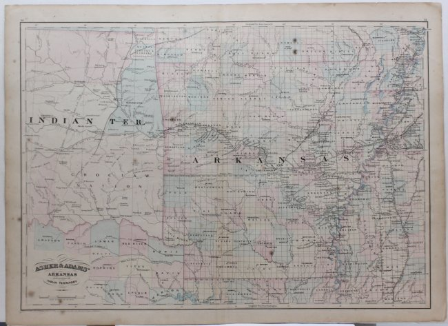 2 Maps ARKANSAS  GEOLOGICAL MAP UNITED  Lot 351