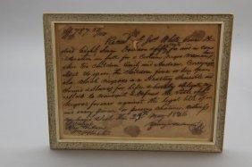 3 Handwritten Items: Slave Receipt & Slave Account