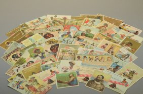 57 Black Trade Cards: Puzzle + Comical