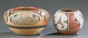 2 Hopi Polychrome Pots, 1 By Fannie Nampeyo