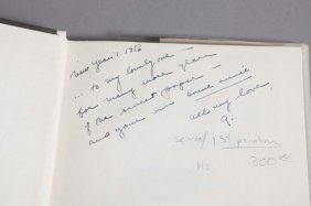 3 Books: 1 Inscribed To Matus By Langston Hughes.