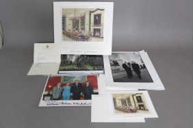 8 Items Incl. Pres. Clinton Signed Photograph.