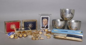 30 Items: Pres. Ford Cufflinks, Lapel & Tie Pins