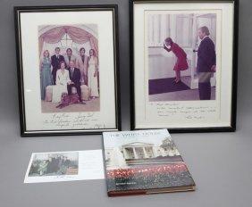 4 Signed Items: Richard & Pat Nixon, Ford Family
