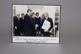 Photograph Sgd. Ronald Reagan, Inscr Nancy Reagan