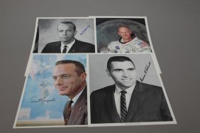21 Astronaut Sgd. Photos Aldrin Shepard Carpenter