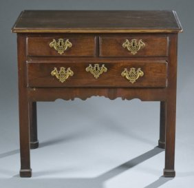 English Chippendale Style Walnut Lowboy, 18th C.