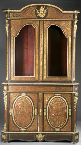 Napoleon Iii Boulle Marquetry Bookcase, 19th Cen.