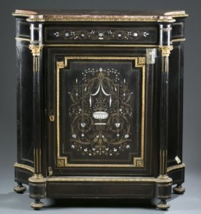 Empire Boulle Marquetry Cabinet, 19th Century.