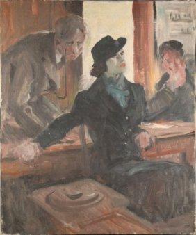 2 Leland R. Gustavson, O/c. Pulp Paintings.
