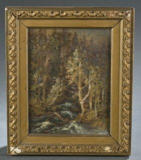 Attrib. G.w. Beaman, Unsigned, Forest Landscape.