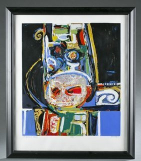 David Driskell, Chieftian's Chair Lithograph 8/90.
