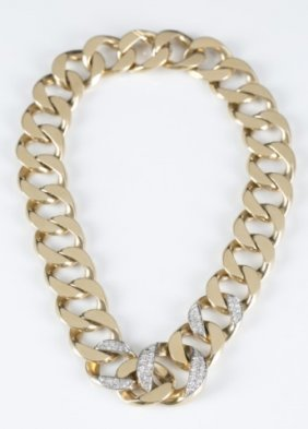 Cartier Gold & Diamond Necklace & Bracelet.