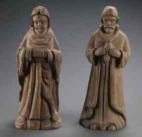 Pair Of Santos Figures.