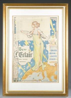 L'eclair Art Nouveau Poster