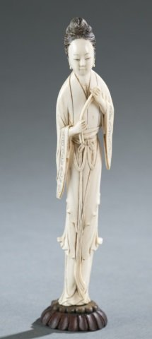 Chinese Ivory Carving Of A Fairy.