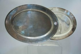 Two Oval Trays