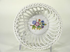 Herend Small Woven Basket.