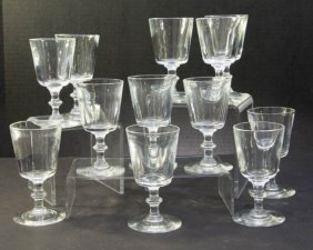 Set Of 12 Steuben Colorless Glass Cordials