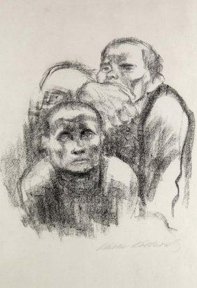 Kollwitz, Gefangene, Lith 1925
