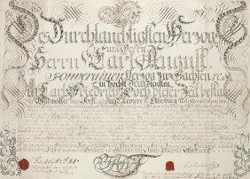 Sammlung Von 3 Urkunden Mit Siegel. 1792-1820.