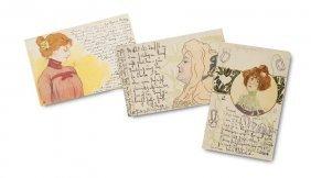 Sammlung Von 7 Jugendstil-postkarten. Deutschland,