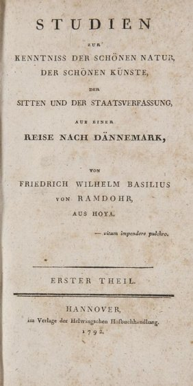 Ramdohr, Friederich Wilhelm Basilius Von Studien Zur