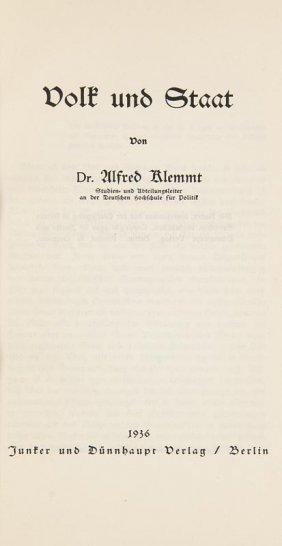 Sammelband Mit 5 Nationalsozialistischen Schriften Aus