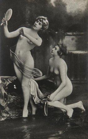 Sammlung Von 11 Akt-photographien Aus Der Zeit Des