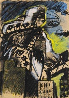 Chevalier, Peter O.t. (stadtlandschaft). 1980.