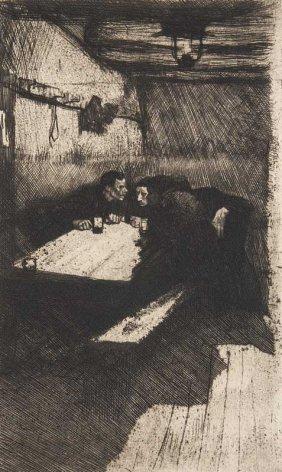 Kollwitz, Kthe Beratung. 1895/1931. Kaltnadelradierung