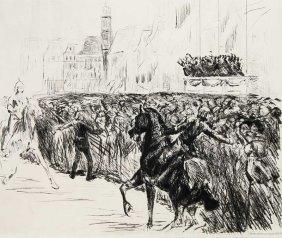 Liebermann, Max Einzug Der Knigin Von Holland. 1913.