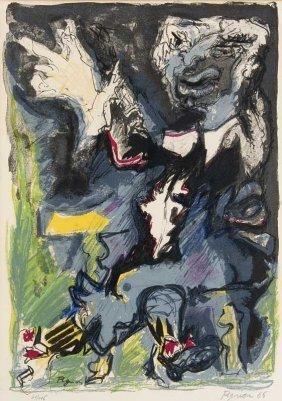 Pignon, Edouard O.t. 1966. Farblithographie Auf Papier.