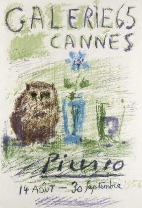 Picasso, Pablo Hibou, Verre Et Fleurs (galerie 65
