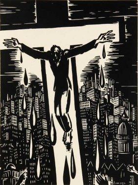 Masereel, Frans Il Tait Une Fois. 1954. Holzschnitt