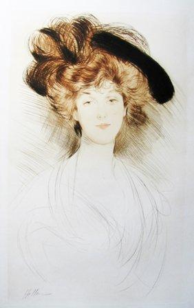 Paul Caesar Helleu - Facing Portrait Of A Woman