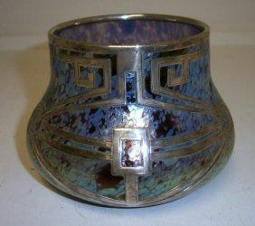 Art Deco Silver Overlay Vase