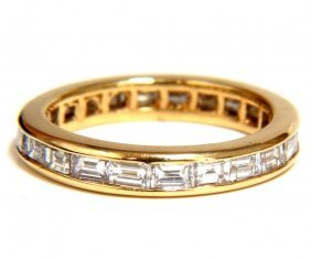 New Ladies Baguette Eternity Diamonds Band 14kt Gold