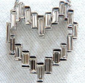 18kt 5.74ct Rare Architectural Long Baguette Diamond