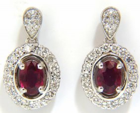2.96ct Natural Oval Bright Purple Red Ruby Diamond