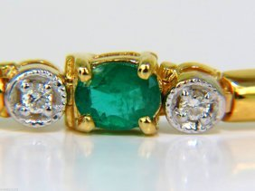 2.35ct Natural Emeralds Solid Bar Link Deco Diamonds