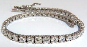 4.26ct Natural Diamonds Graduated Tennis Bracelet 18kt