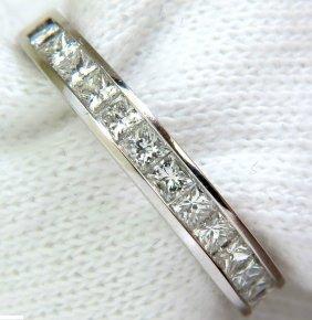 .40ct Princess Cut Diamonds Band Ring Modern Channel