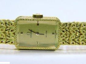 "Estate 18kt Working Omega ""de Ville"" Ladies Gold Watch"