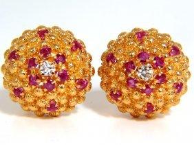 Natural Ruby Diamond Fused Bead Domed Spanish Byzantine