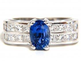 2.76ct Natural Classic Ceylon Blue Sapphire Diamonds