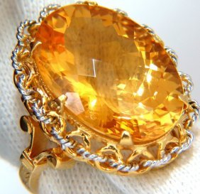 26ct Natural Golden Yellow Checkerboard Cut Citrine
